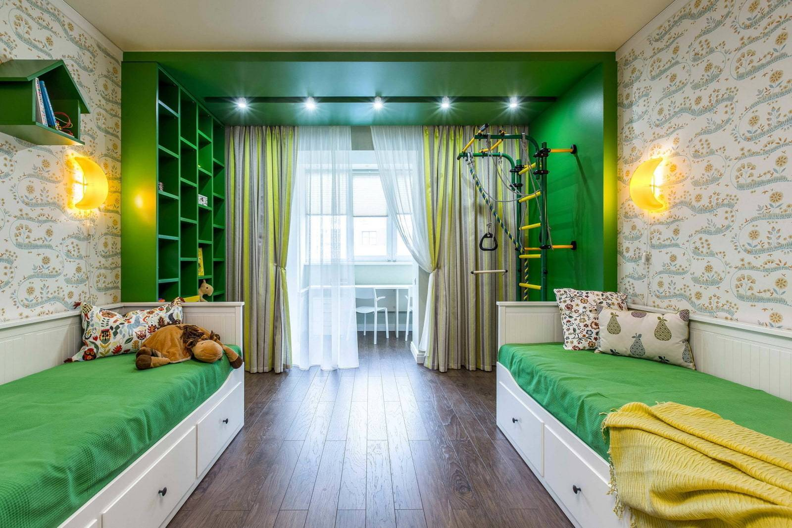 Дизайн детской комнаты 9 кв м: фото примеров интерьера, варианты планировки