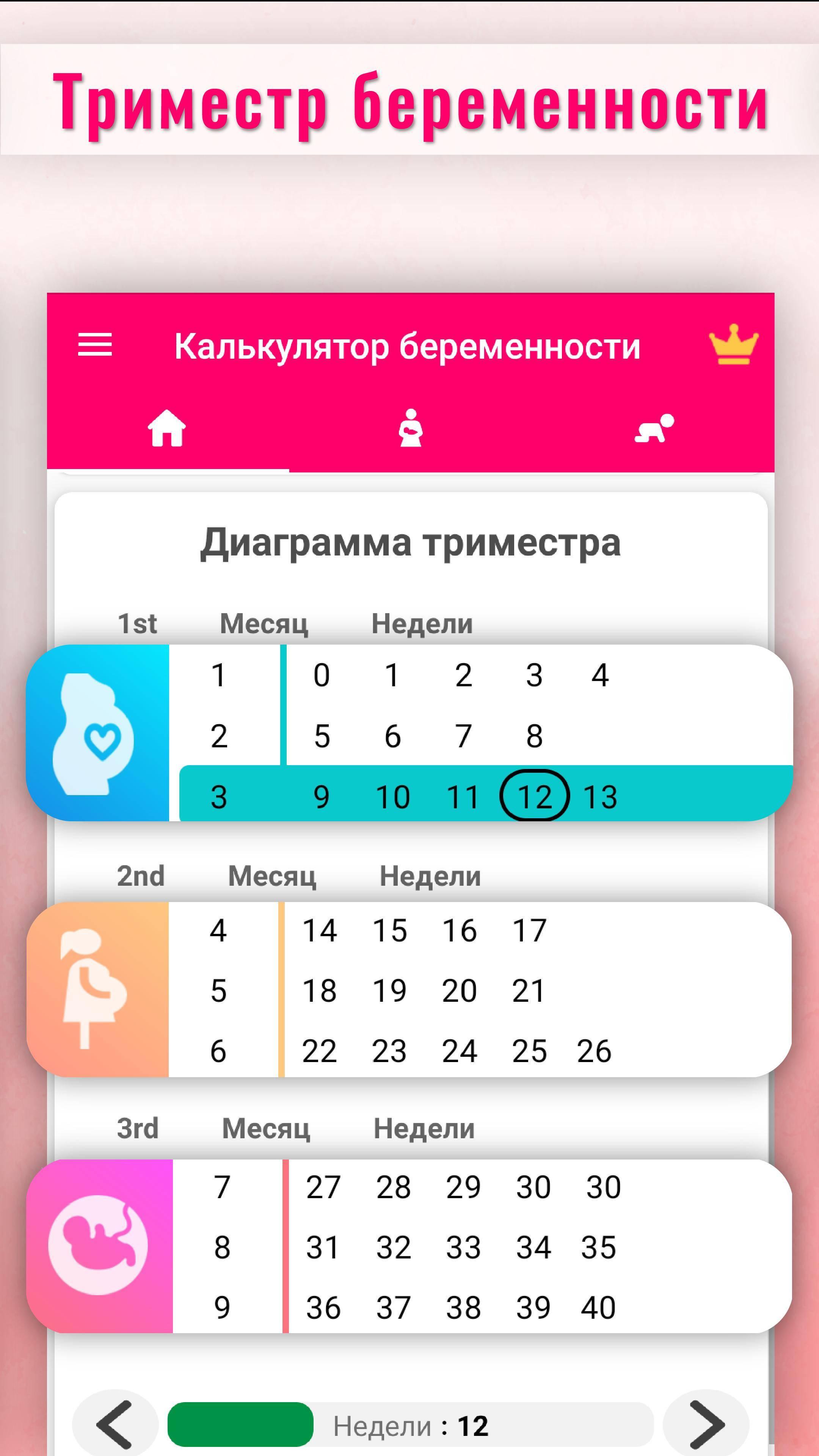 Рассчитать срок беременности по неделям, онлайн - калькулятор
