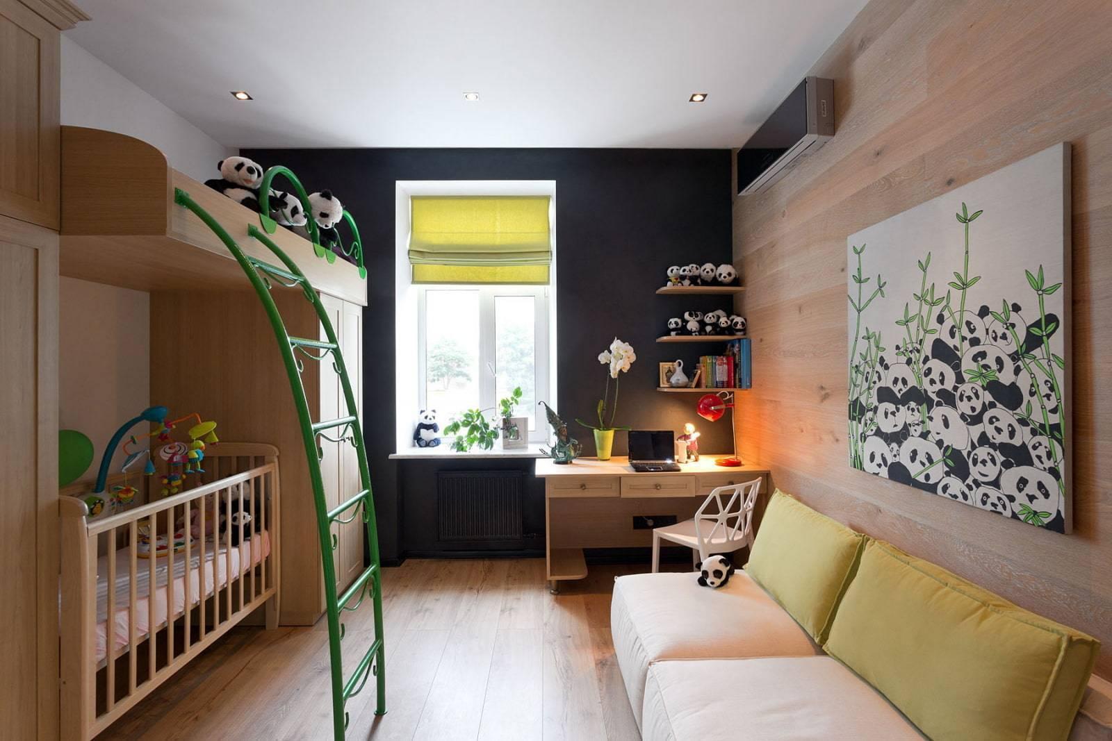 Узкая детская комната: расстановка мебели, дизайн для двоих, фото интерьера