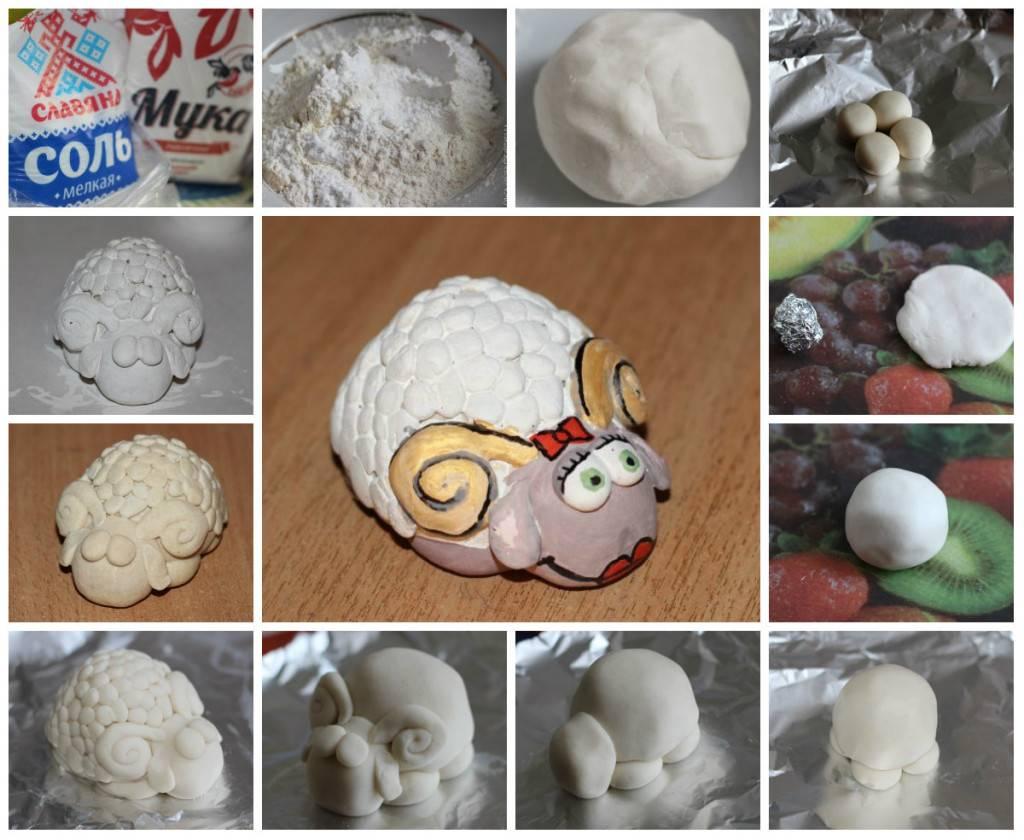 Из соленого теста лепка (77 фото): что можно слепить, поделки для начинающих пошагово