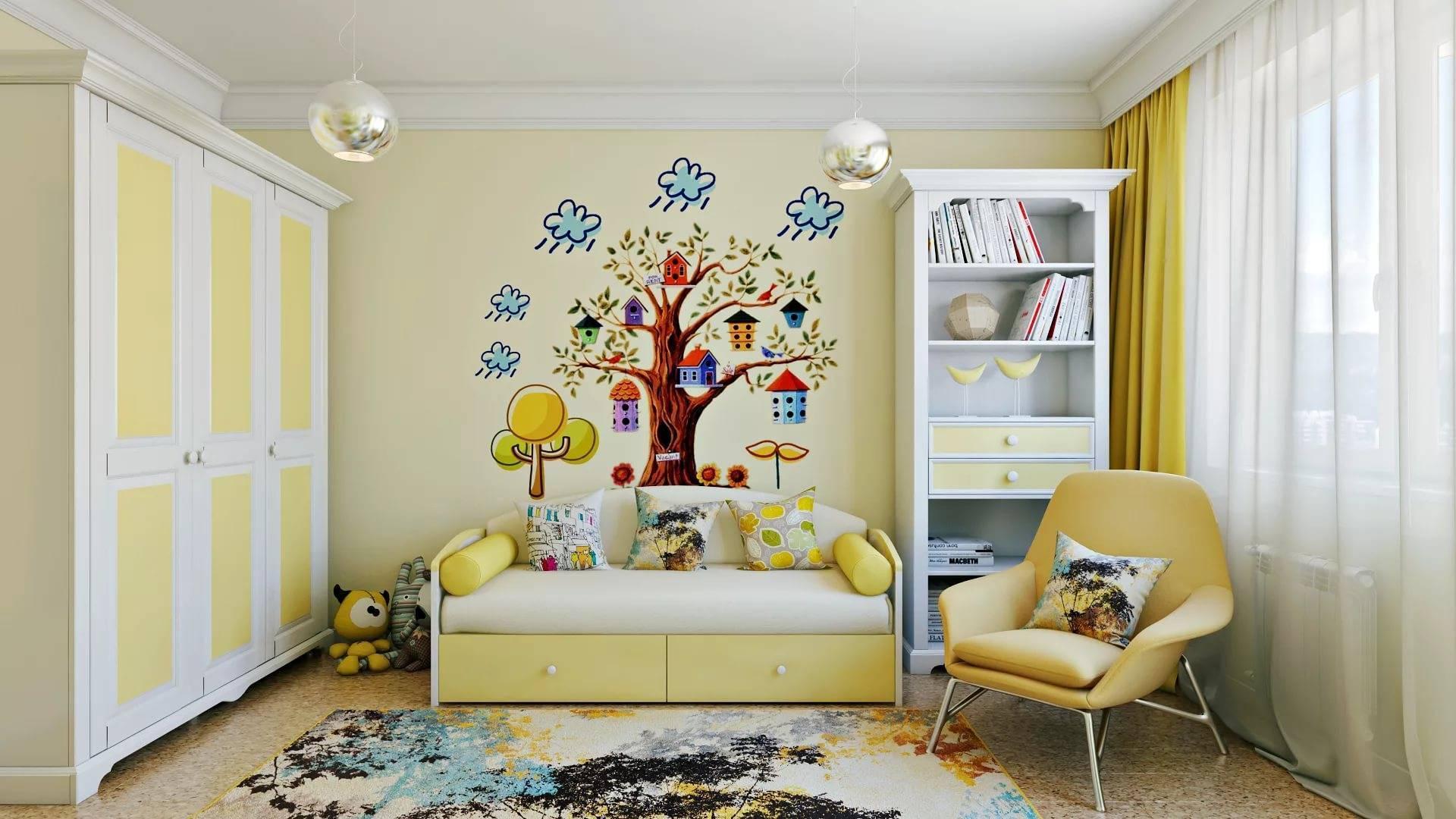 Продуманный дизайн и декорирование детской комнаты на два ребенка