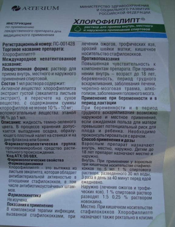 Спрей «хлорофиллипт» для детей: инструкция по применению