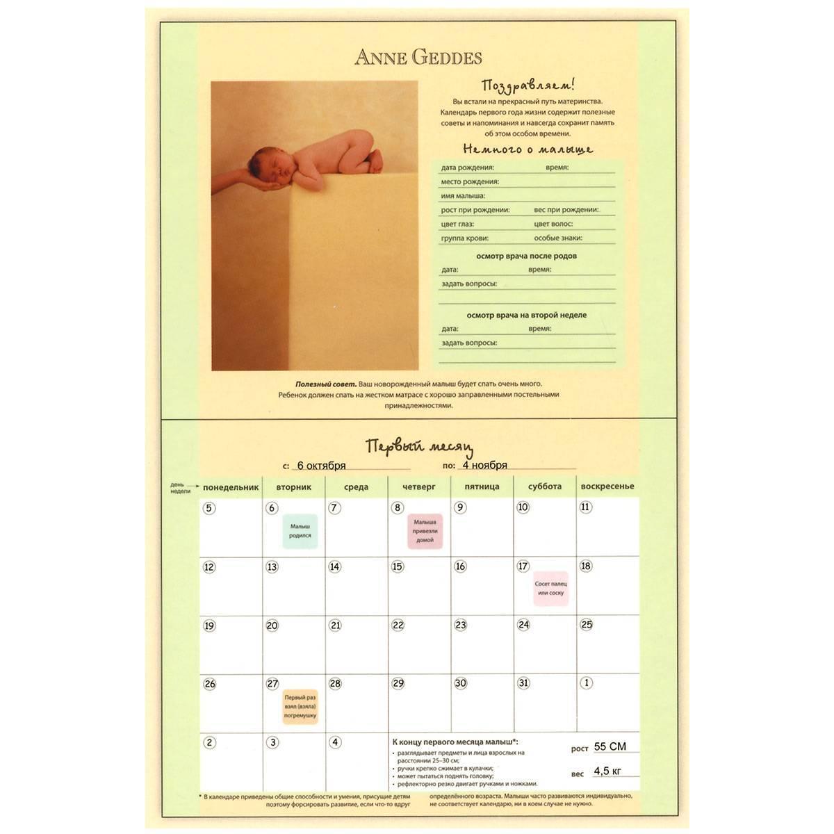 Календарь развития ребенка: первая неделя жизни