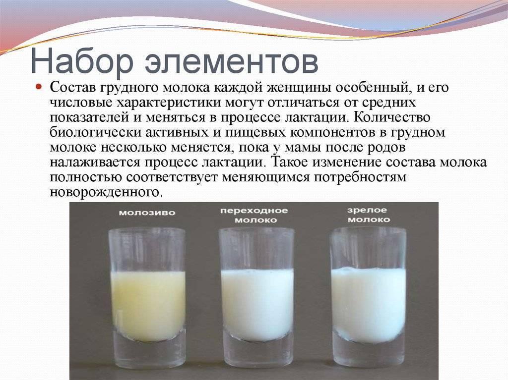Состав грудного молока и молозива женщины, польза для ребенка и пищевая ценность