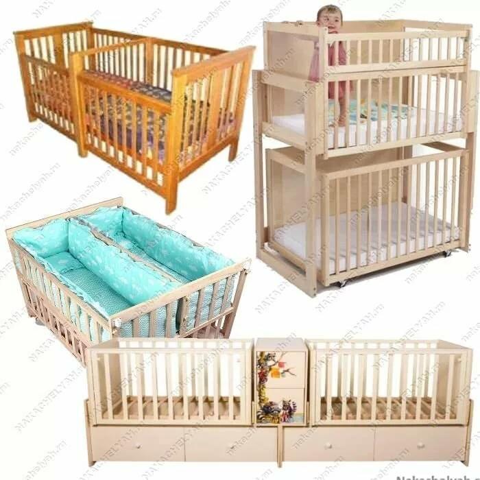 Кроватки для двойни — новорожденной, фото, плюсы и минусы, как поставить