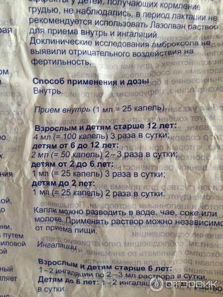 Лазолван инструкция по применению для ингаляций с физраствором детям