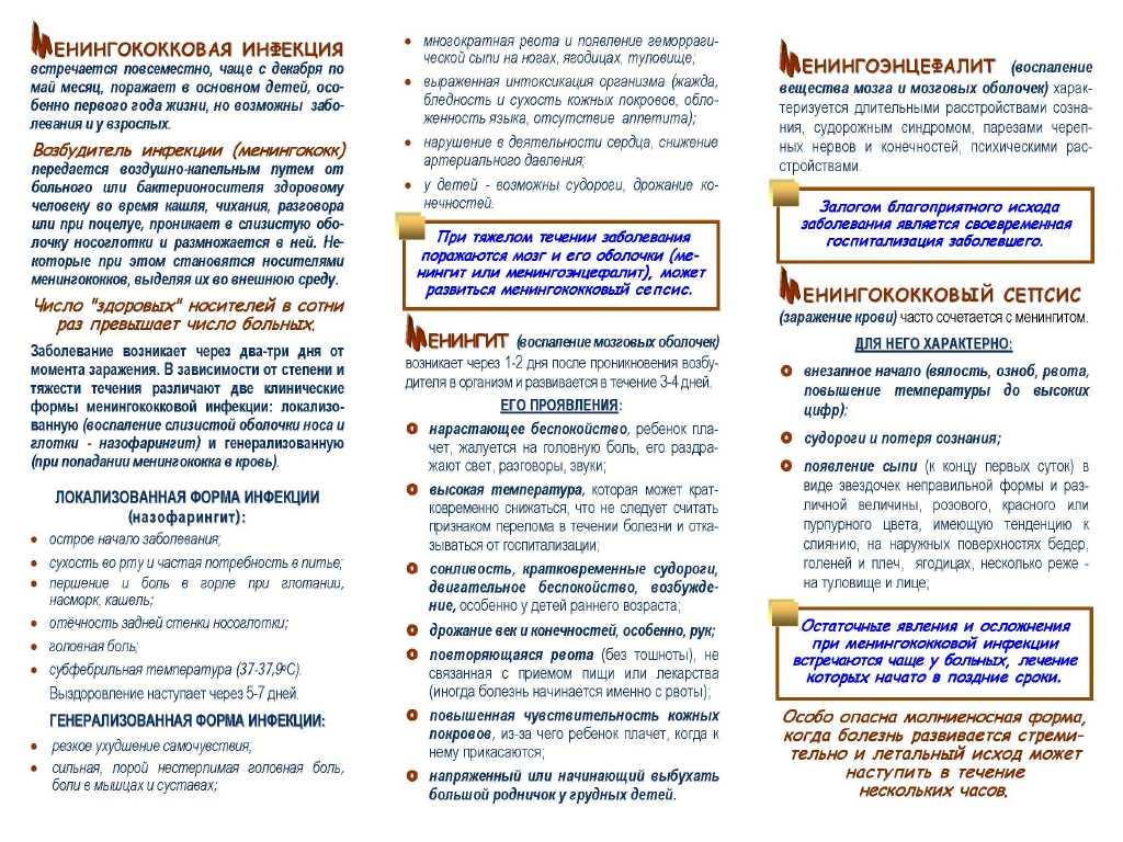 Менингококковая инфекция у детей: симптомы и лечение, профилактика, фото сыпи | заболевания | vpolozhenii.com
