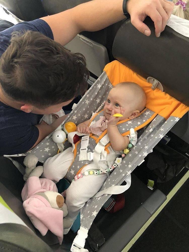 Ребенок в самолете. разбор полета для детей до 2 лет