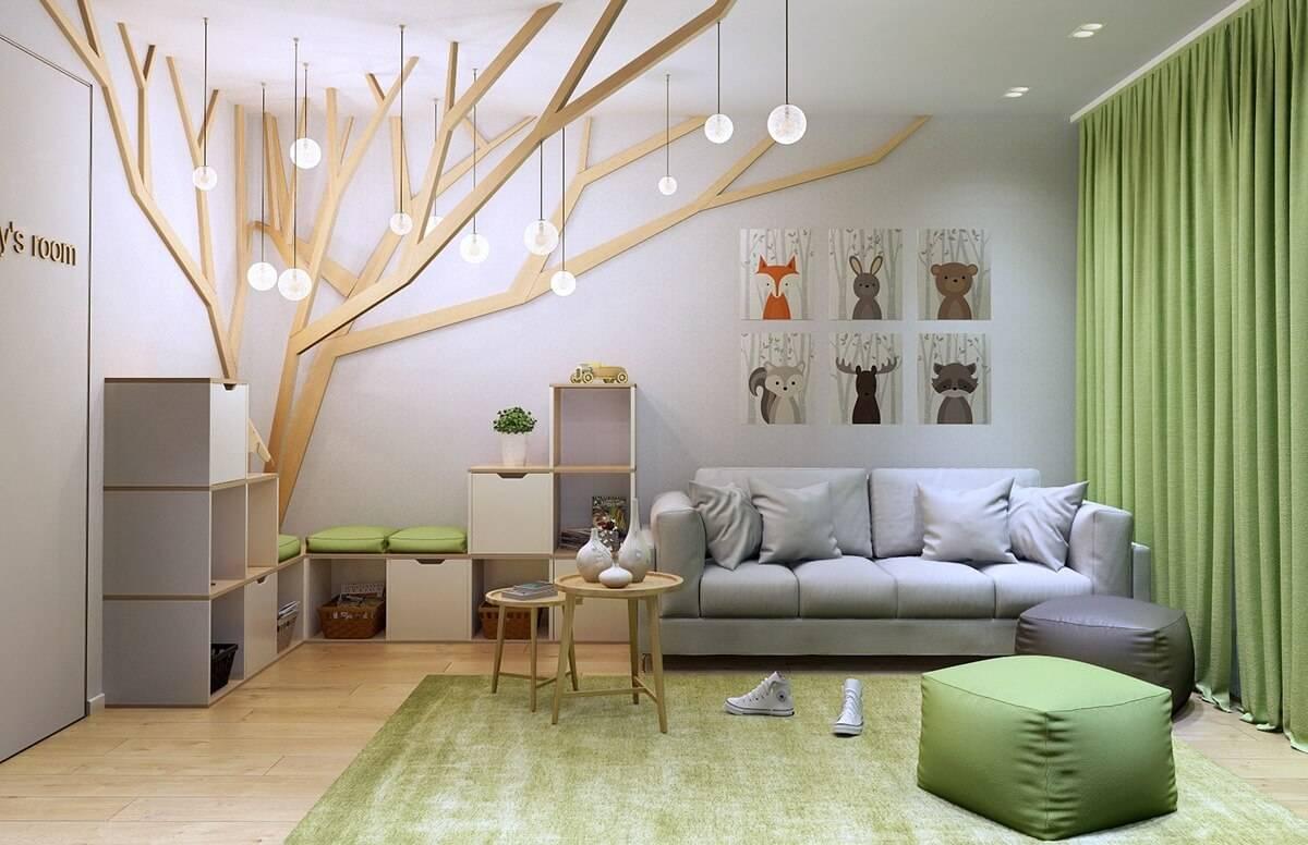 Дизайн детской и гостиной в одной комнате: как совместить два помещения и оформить интерьер?