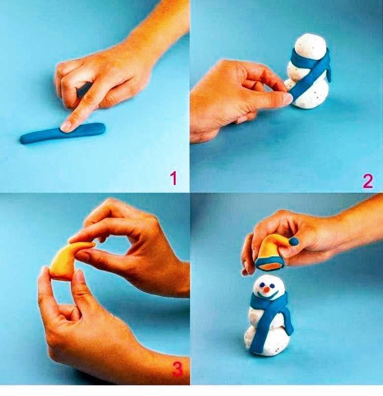 Лепим с детьми от 1 до 2-3 лет фигурки из пластилина