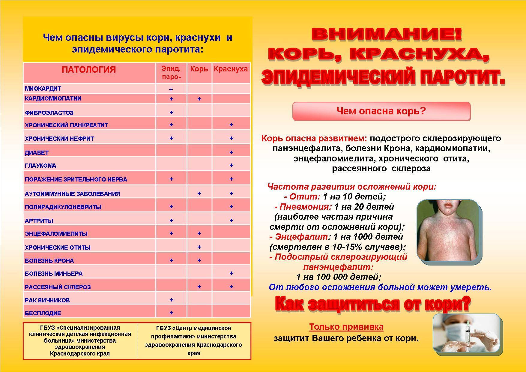 Периодичность прививок от кори – когда проводится ревакцинация?