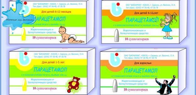 Парацетамол: дозировка в таблетках детям