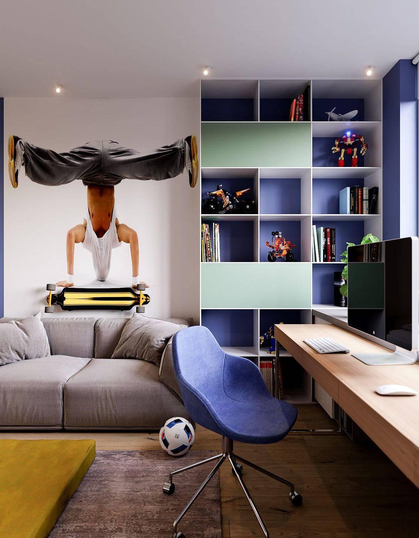 Комната для мальчика-подростка: дизайн с фото в современном стиле, мебель и идеи для ремонта