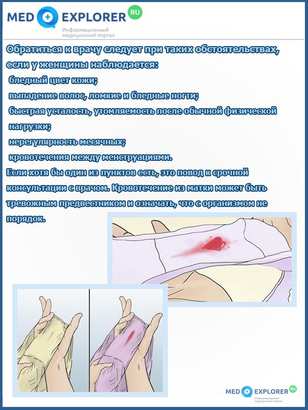Имплантационное кровотечение – как отличить, сроки наступления