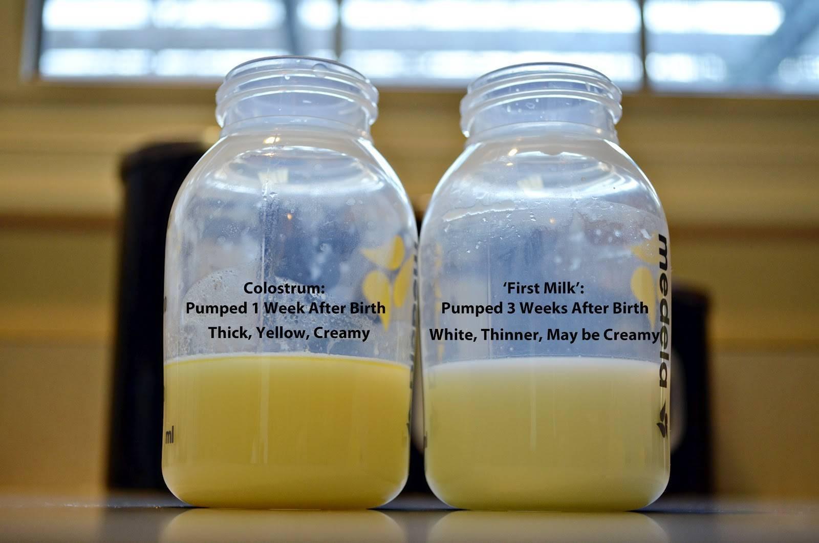Грудное молоко синего цвета почему