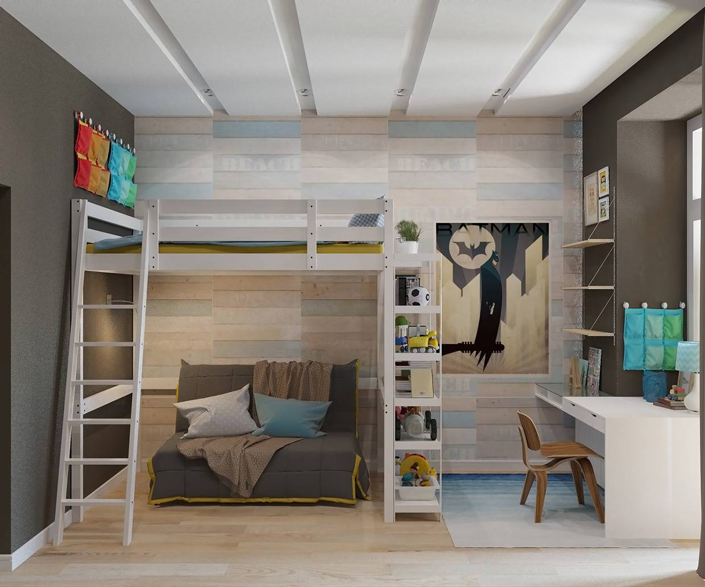 Схемы и чертежи планировки дизайна интерьера детских комнат