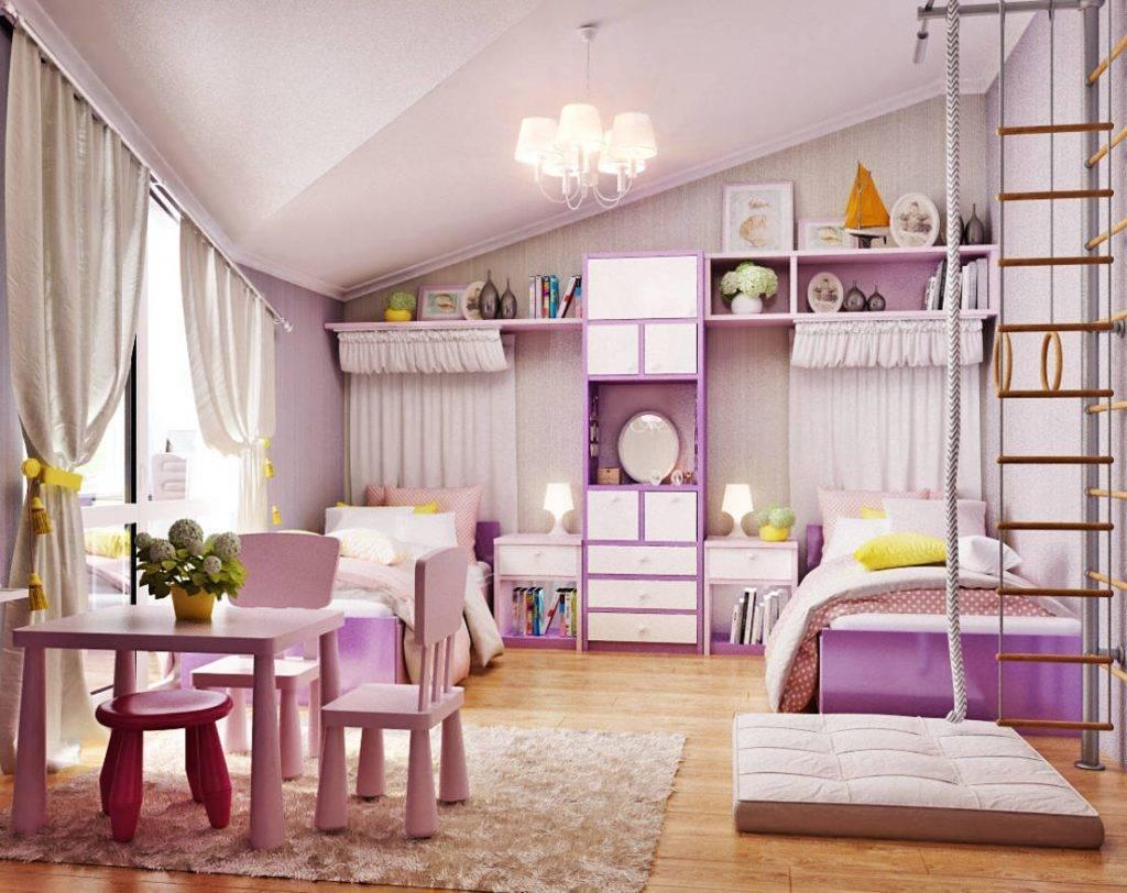 Детская комната для трех девочек – 35 фото и 6 советов