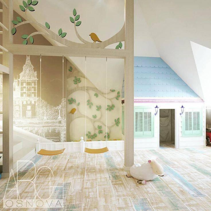Детская на мансарде (53 фото): комната для девочки и для мальчика на мансардном этаже, дизайн для малыша и для подростка, спальня с ломаной крышей