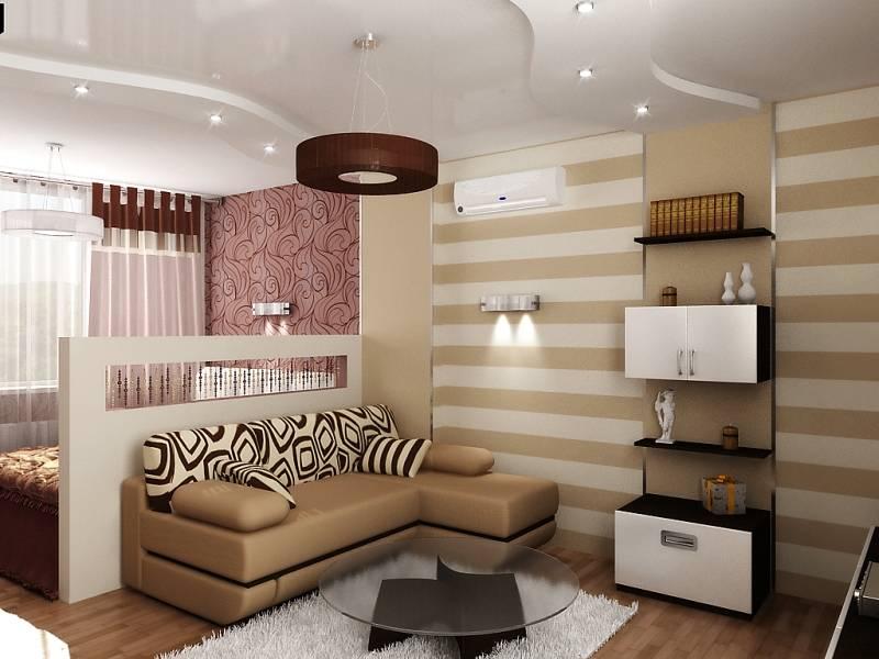 75 примеров совмещения спальни и гостиной в одно помещение