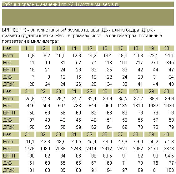 Размер плода по неделям беременности (22 фото): таблица размера ребенка-эмбриона в динамике. бипариетальный размер головки и лобно-затылочный размеры плода