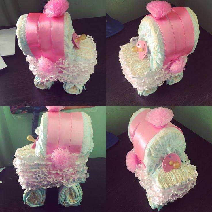 Как сделать торт из памперсов для мальчика и девочки своими руками: собираем подарок из подгузников для новорожденных (видео + фото)