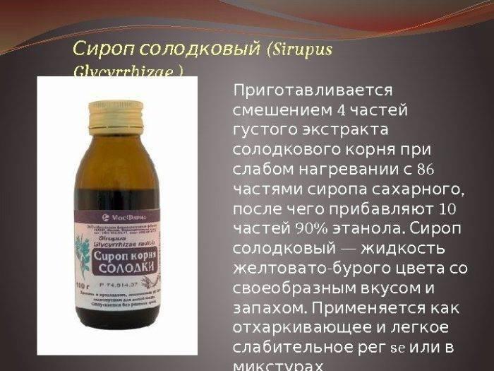 Сироп корня солодки для лечения кашля у взрослых: инструкция по применению