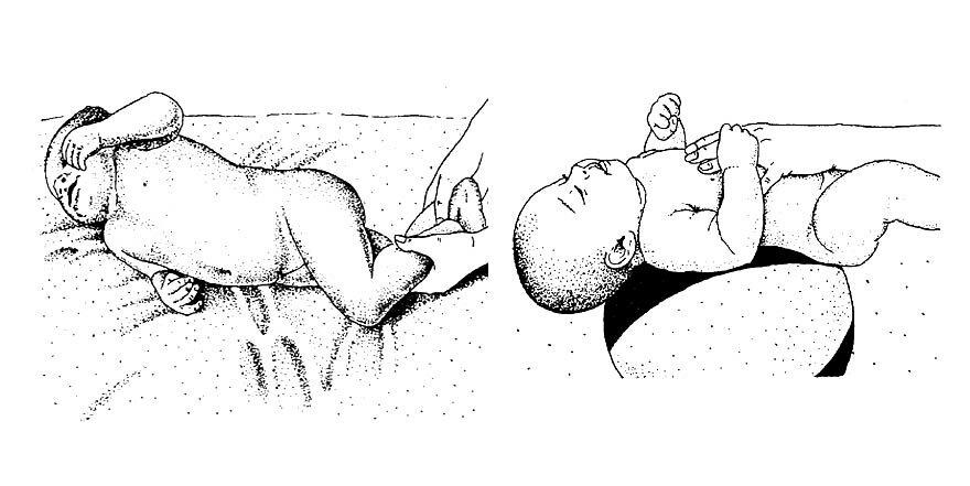 Гимнастические упражнения для детей 3-4 месяцев