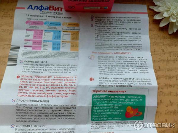 Витамины алфавит для беременных: состав и инструкция