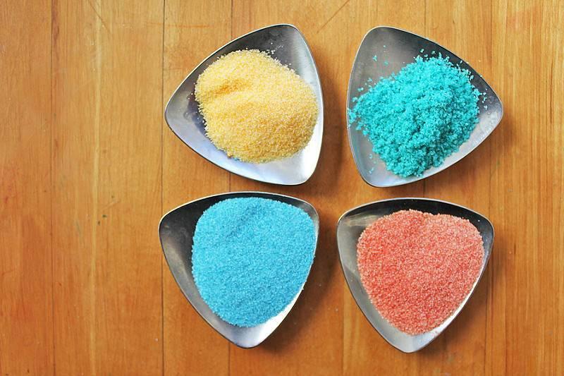 Цветной песок своими руками в домашних условиях