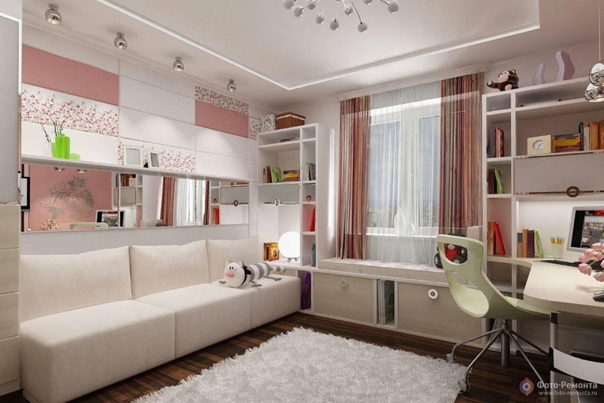 Комнаты для девочек 12 лет: вариант дизайна для троих детей, фото интерьера