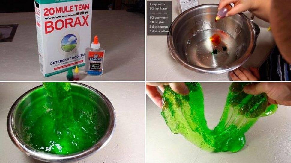 Как сделать лизуна или слайм без тетрабората натрия: 16 рецептов