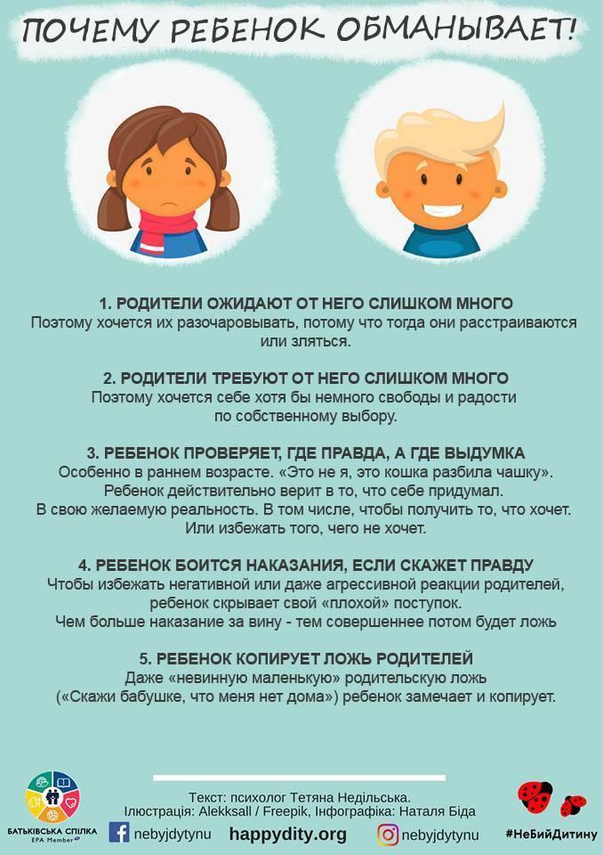 Причины детской лжи. отучаем ребёнка от вранья