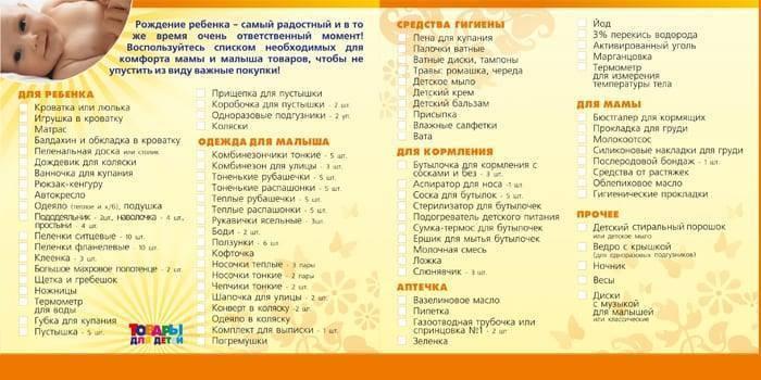 Аптечка для новорожденного: самый полный список лекарств для ребенка. / необходимое для ребенка / статьи