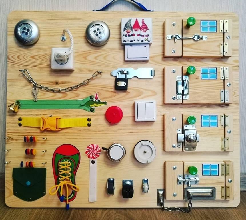 Бизиборд своими руками для девочек — подробная инструкция как изготовить развивающие доски для детей (90 фото и видео)
