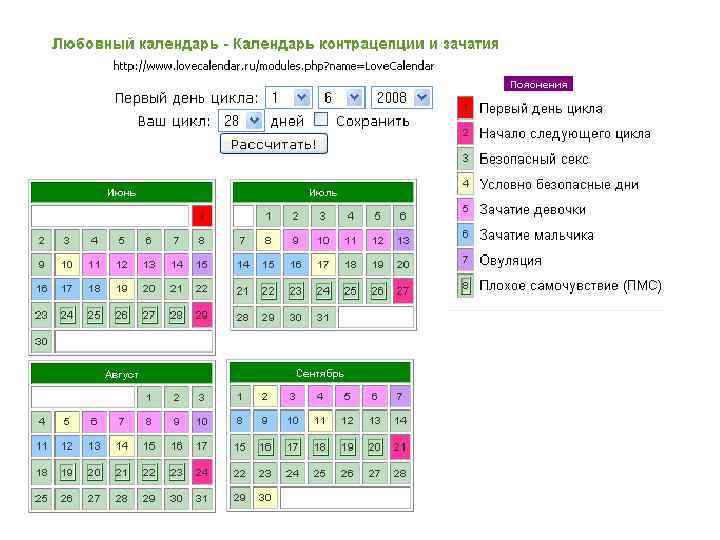 Точный онлайн калькулятор для расчета овуляции. а также как рассчитать дни для зачатия другими способами