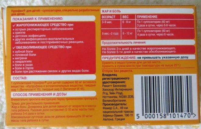 Препараты для детей с ибупрофеном