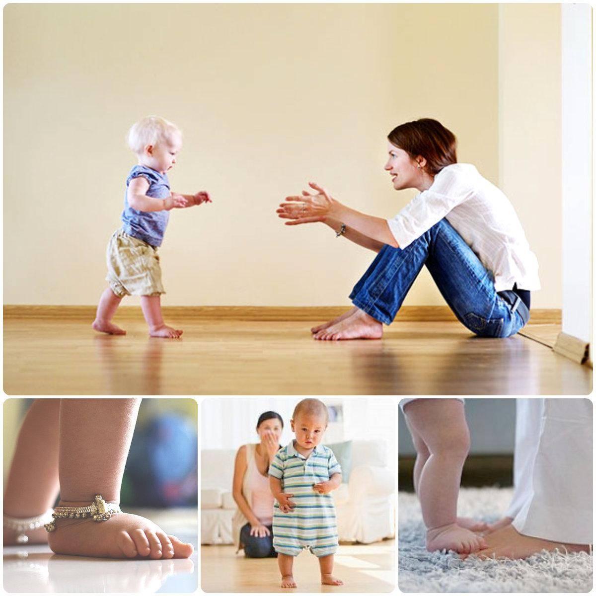 Как научить ребенка самостоятельно ходить: правильная методика, упражнения (с видео)
