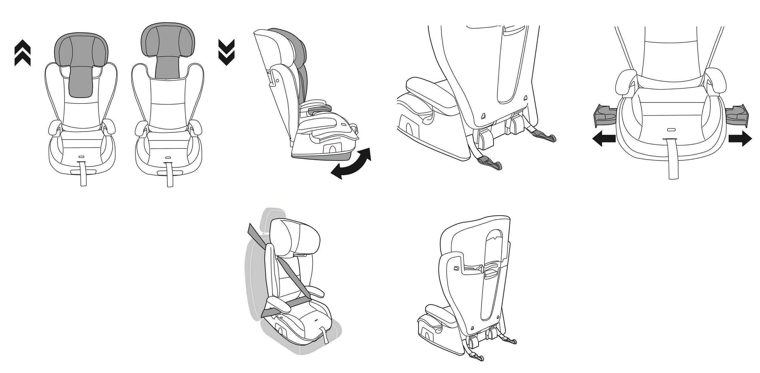 Как установить детское кресло в машине: схема, видео, инструкция
