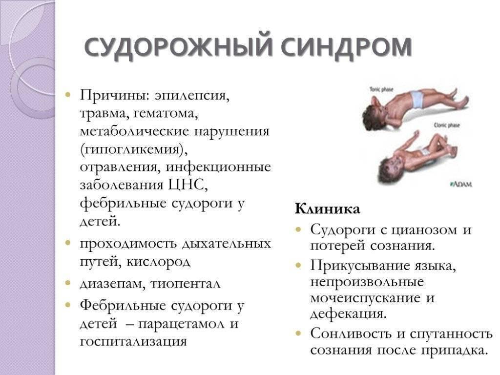 Судорожный синдром у детей: неотложная помощь, причины, симптомы и лечение