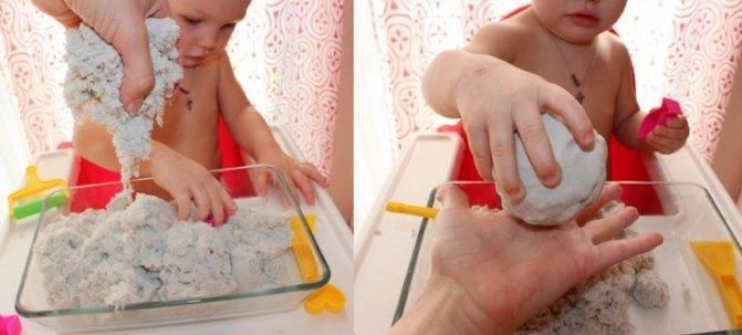 Как сделать кинетический песок в домашних условиях. кинетический песок своими руками