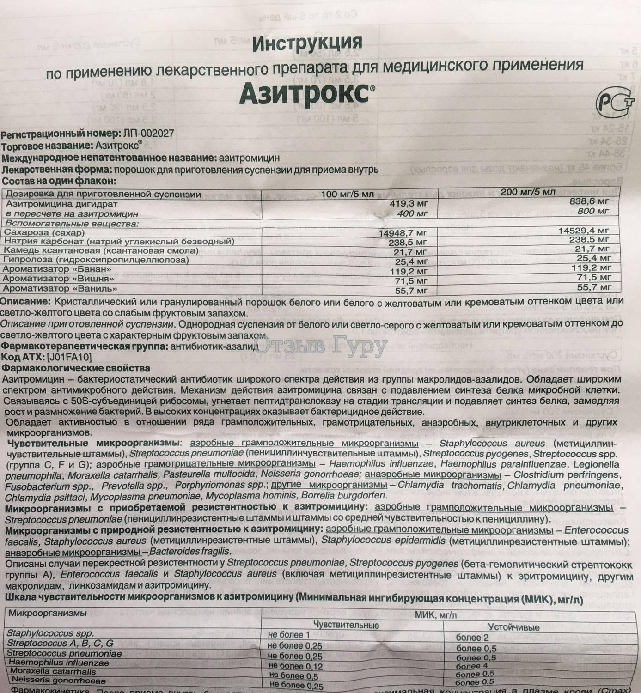 Азитромицин 250 - инструкция по применению для детей, отзывы, цена - стоп простуда