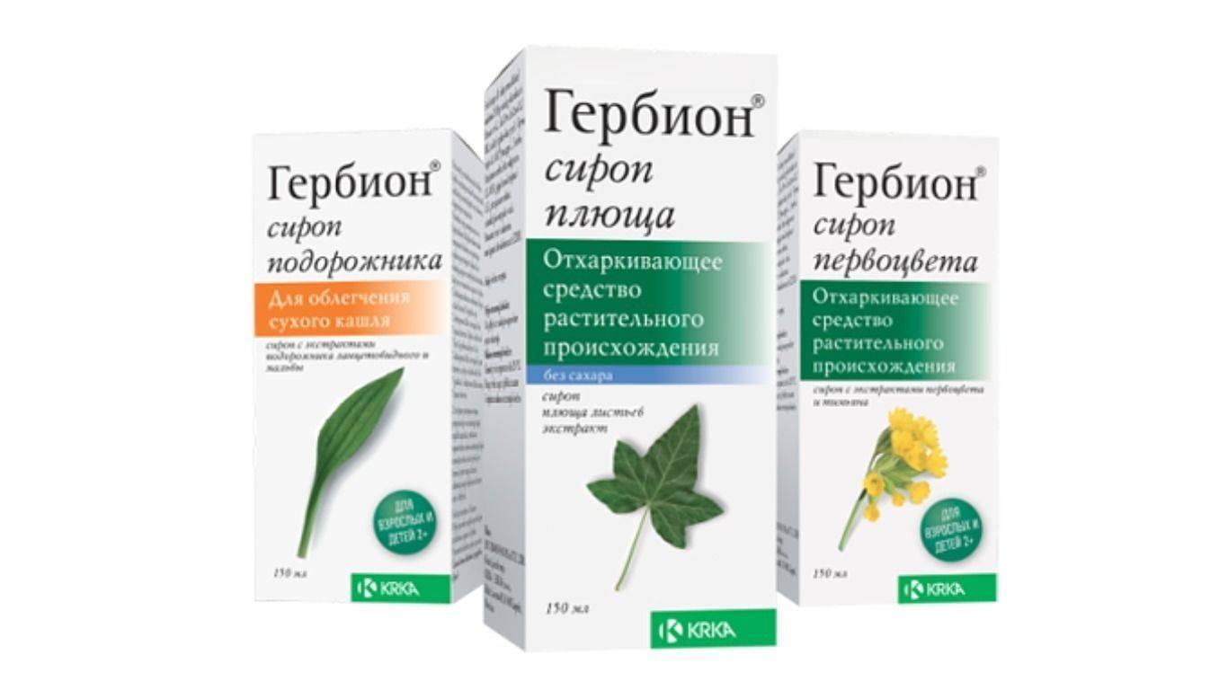 Гербион сироп первоцвета: инструкция по применению от кашля для детей и взрослых