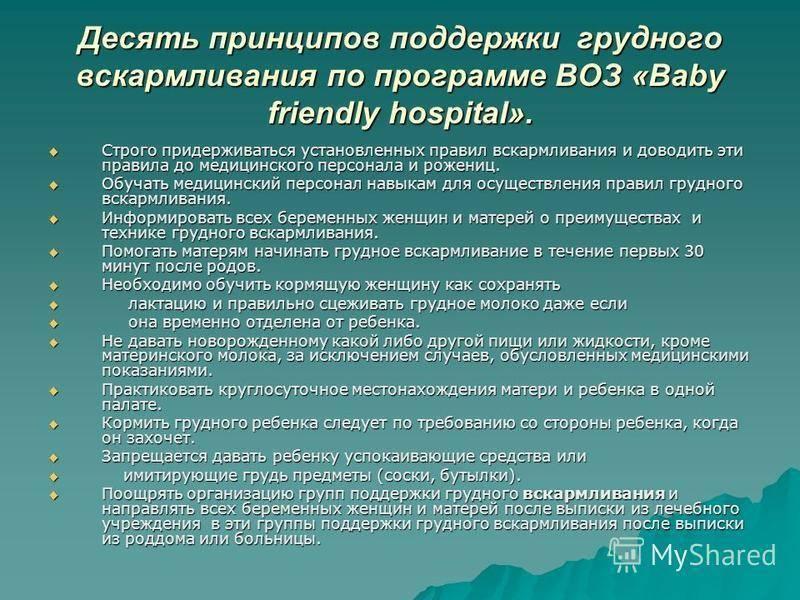 Рекомендации воз по грудному вскармливанию: 10 принципов гв | опыт | vpolozhenii.com