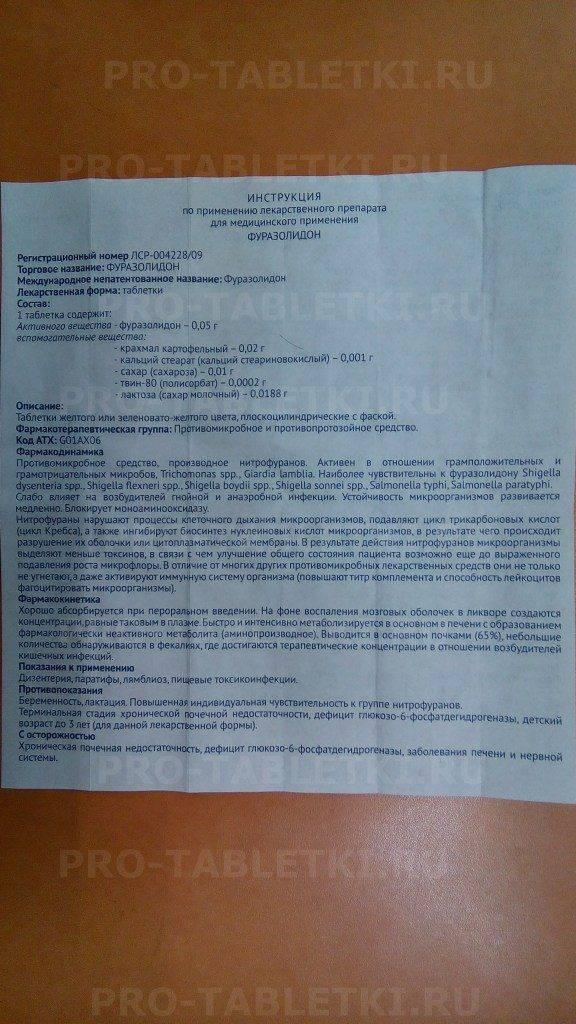 Фуразолидон суспензия для детей — parazit24