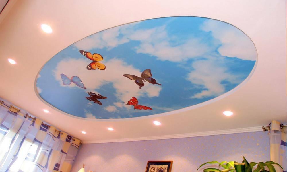 Потолки в детскую комнату: фото лучшего дизайна