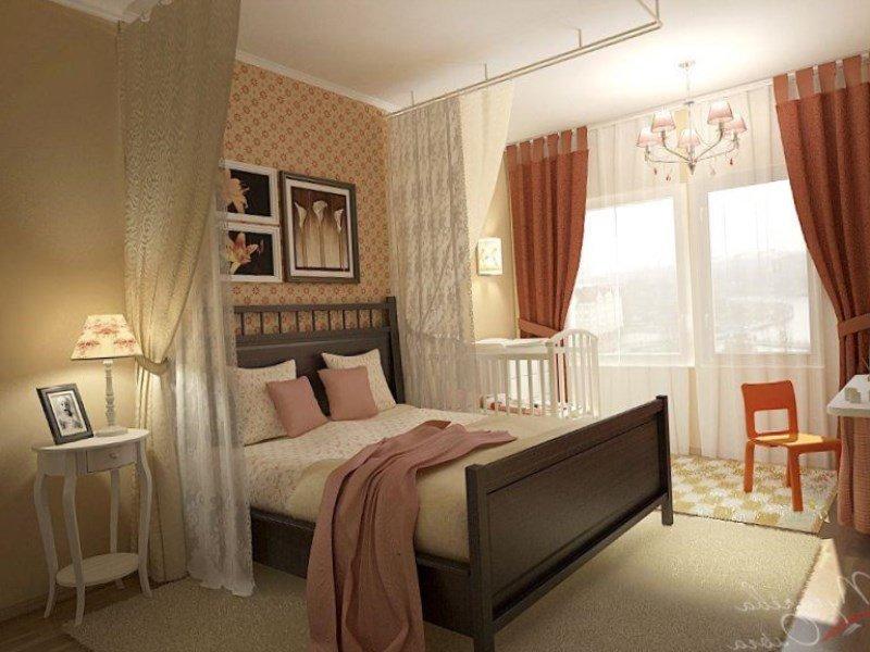 Дизайн спальни с детской кроваткой +50 фото обустройства интерьера