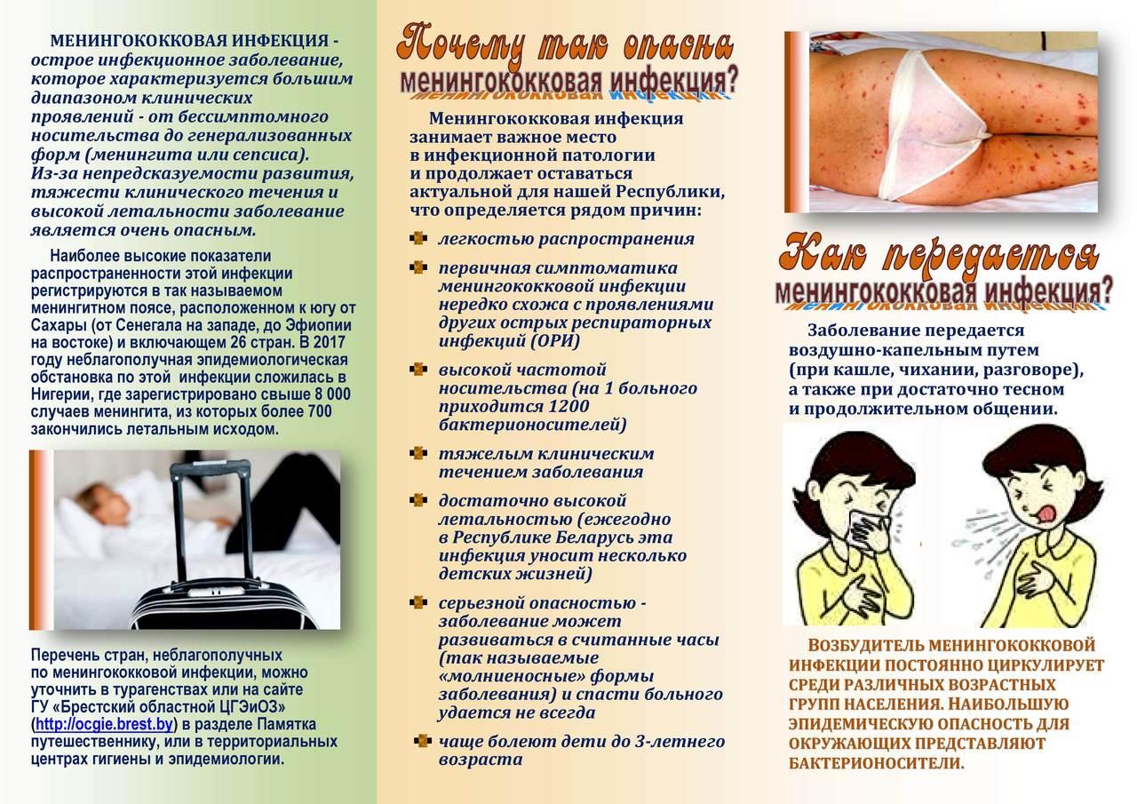Симптомы и лечение менингококковой инфекции у детей