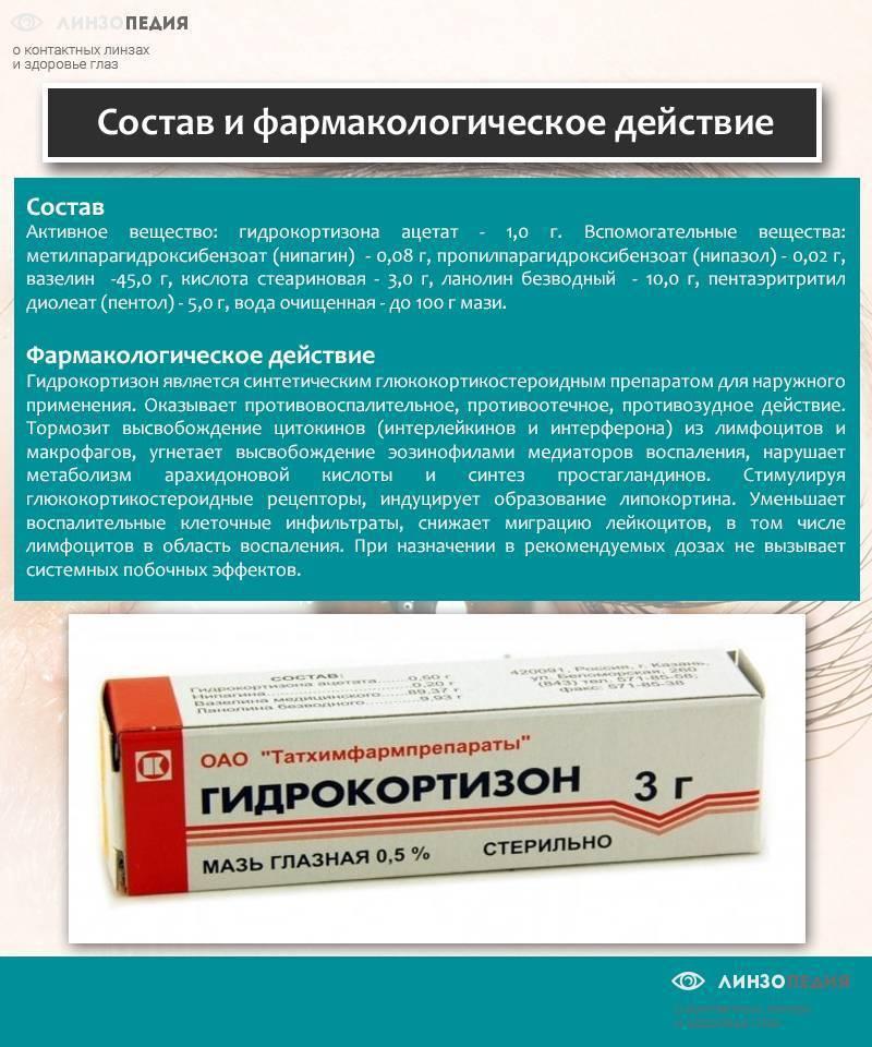 Инструкция по применению гидрокортизоновой мази: можно ли использовать для лечения детей, в том числе при аллергии? гидрокортизон для глаз: мазь, гель, крем, бальзам