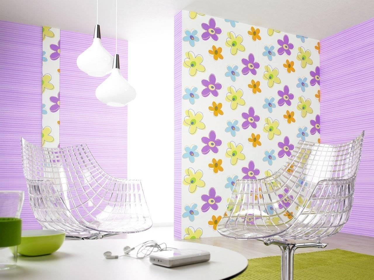 Как наклеить обои двух цветов в зале: фото, цветовая гамма, способы комбинирования