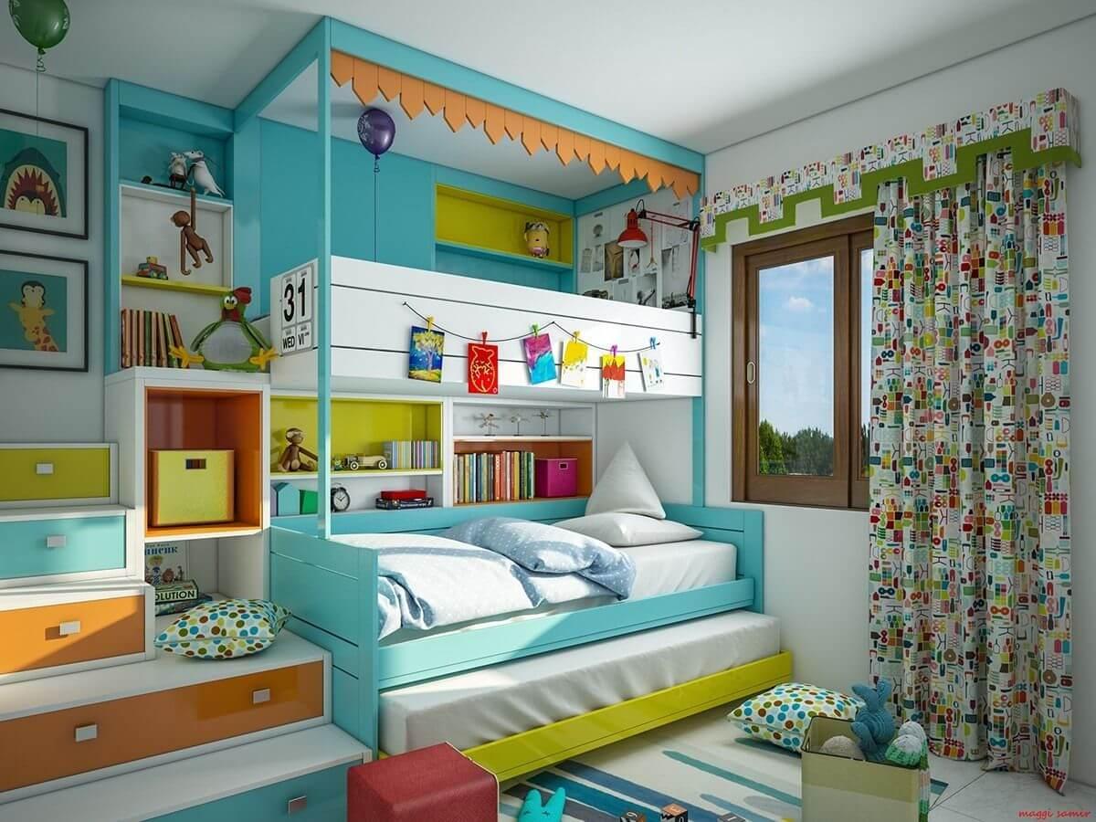 Дизайн для детской комнаты для двоих детей: идеи оформления, варианты планировки, фото